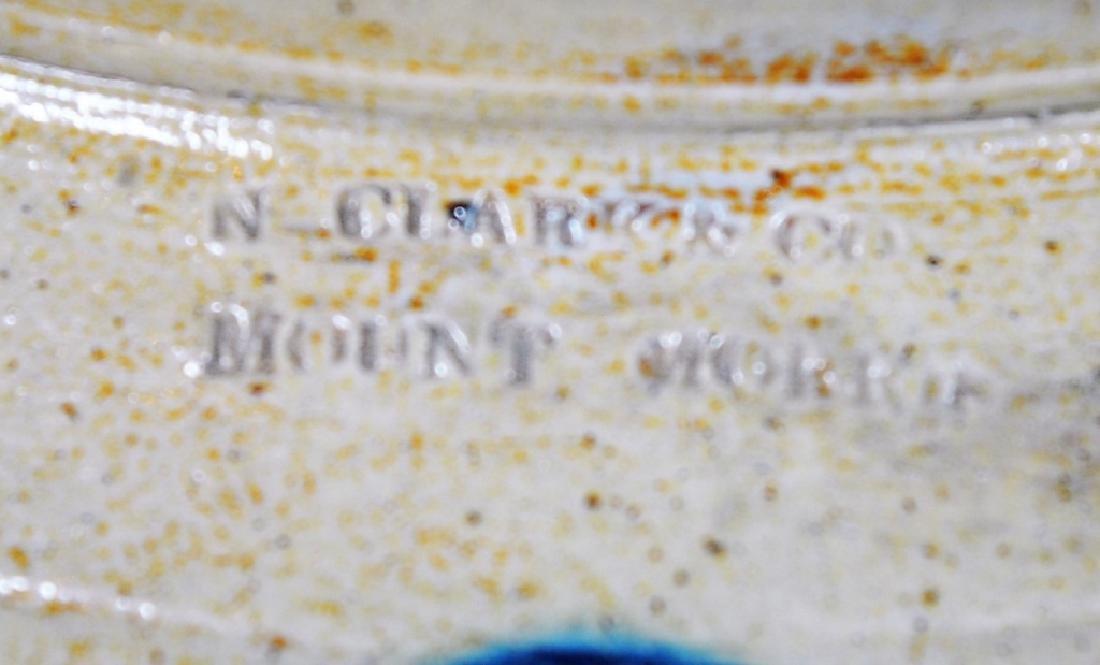 N. Clark & Co. Ovid No. 2 Cobalt Feather Crock - 2