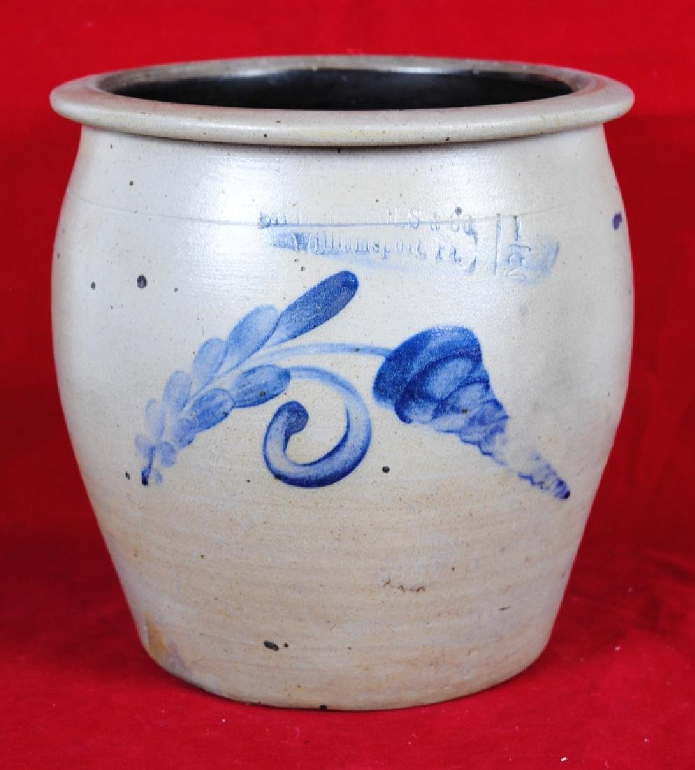 Sipe Nichols  Co. 1.5 Gallon Crock w/ Decoration