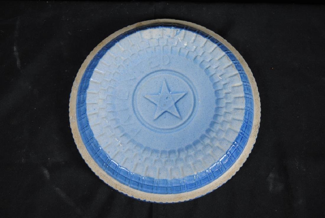 Salt Glazed Crockery Lid - 2