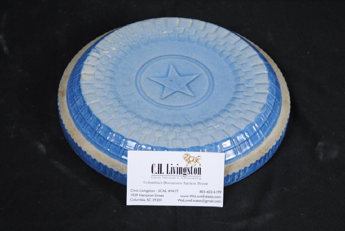 Salt Glazed Crockery Lid - 4