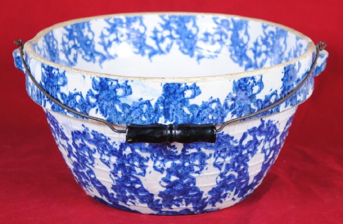 Spongeware Stoneware Bowl