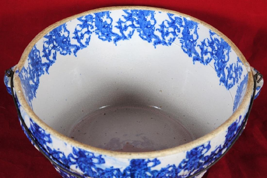 Spongeware Stoneware Bowl - 2