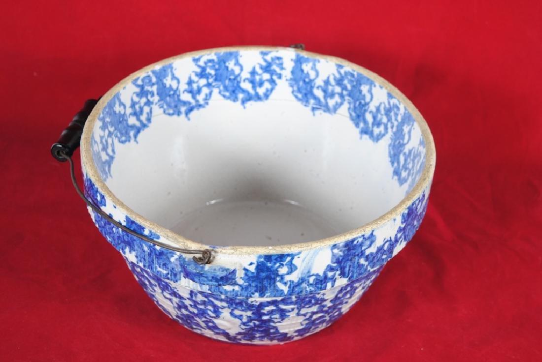 Spongeware Stoneware Bowl - 3