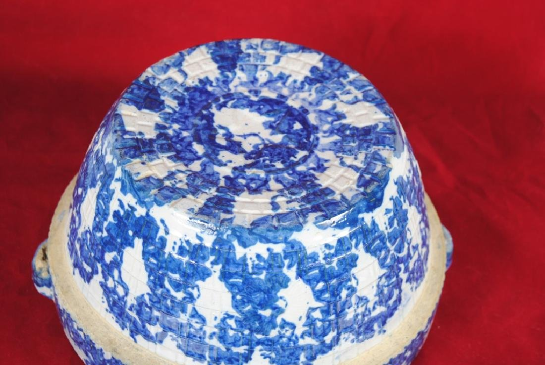 Spongeware Stoneware Bowl - 5