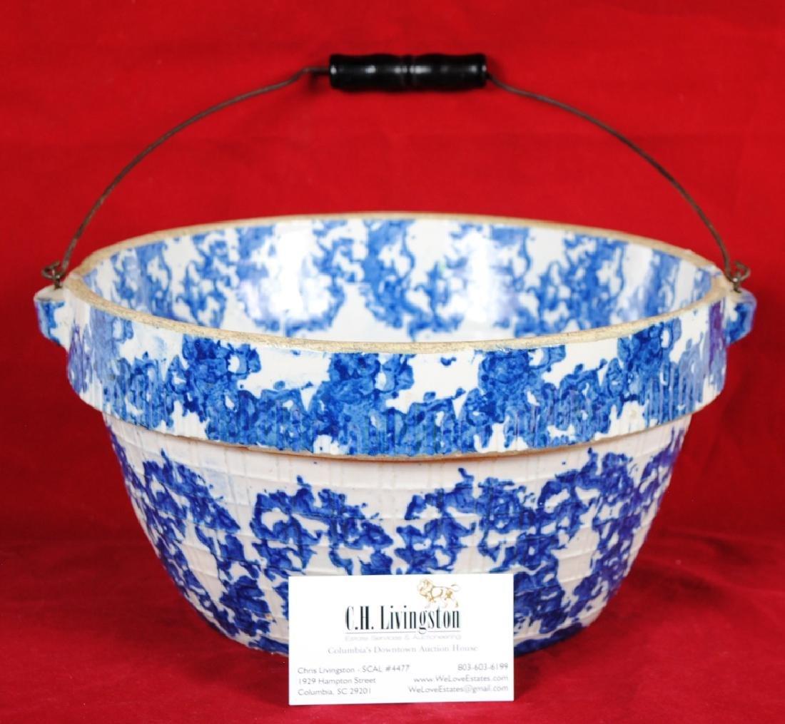 Spongeware Stoneware Bowl - 7