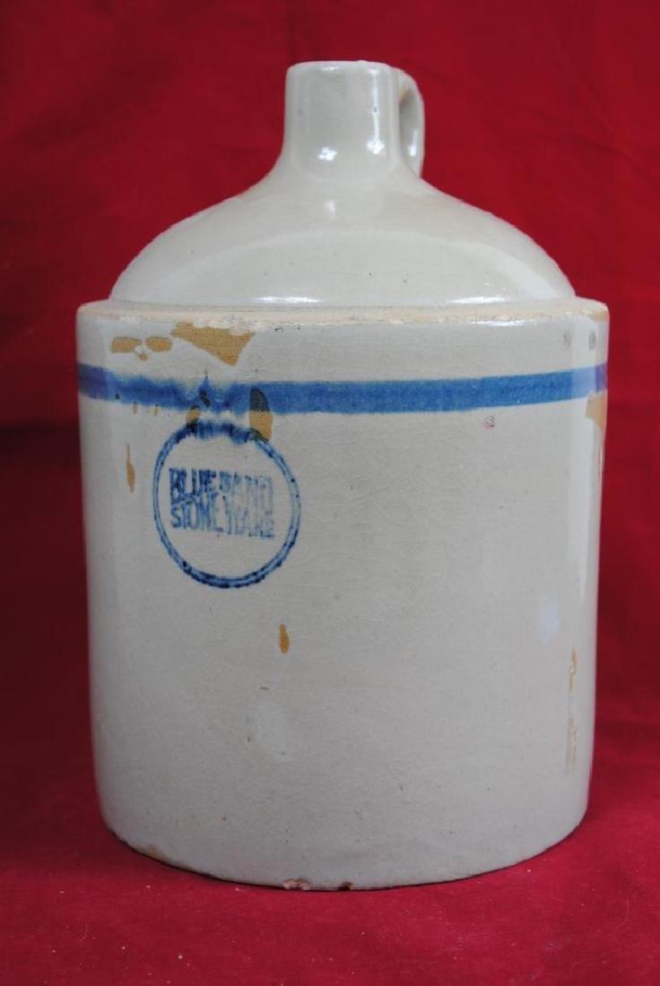 Blue Band Stoneware Jug