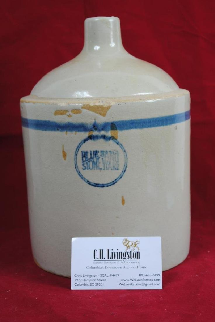 Blue Band Stoneware Jug - 6