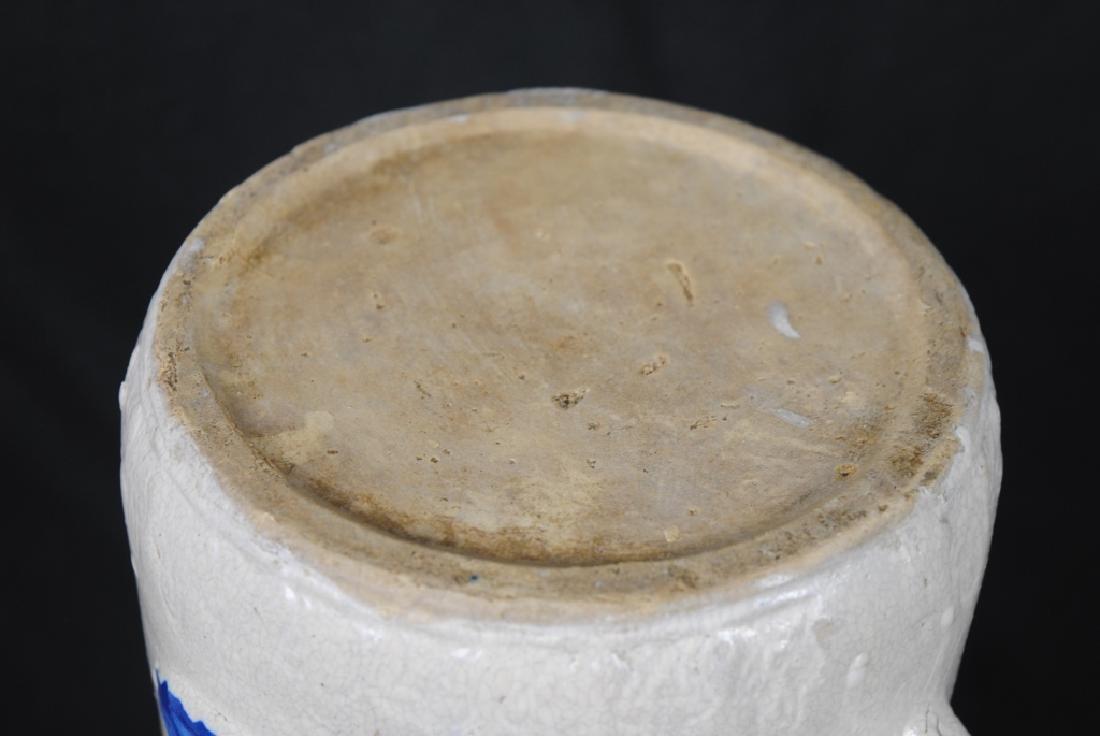Salt Glazed Pitcher w/ Cobalt Decoration - 5