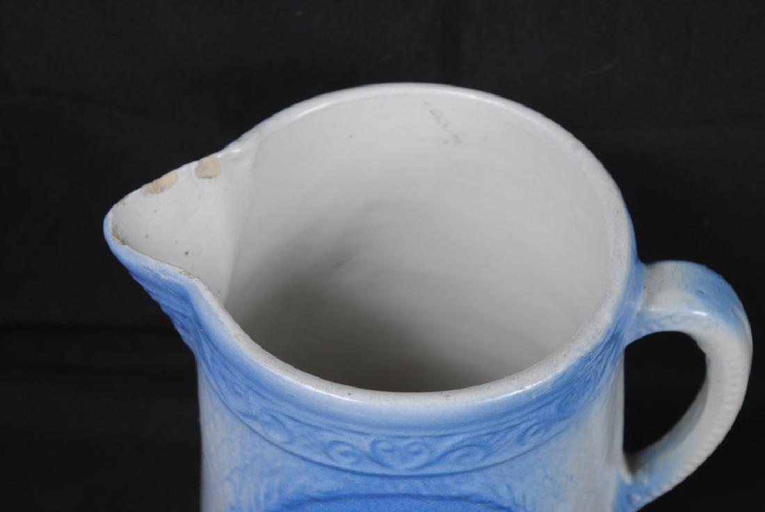 Salt Glazed Pitcher w/ Swan & Stag Decoration - 2