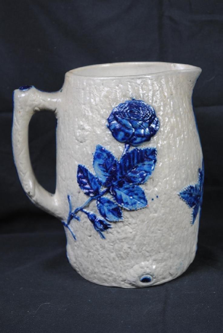 Whites of Utica Molded Stoneware Pitcher