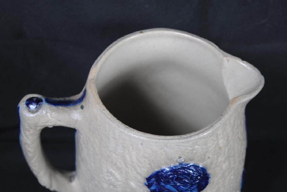Whites of Utica Molded Stoneware Pitcher - 2