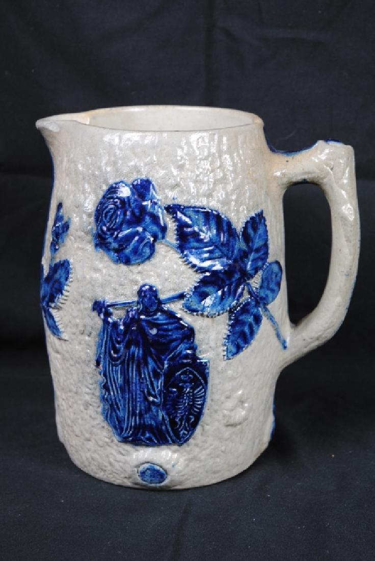 Whites of Utica Molded Stoneware Pitcher - 4