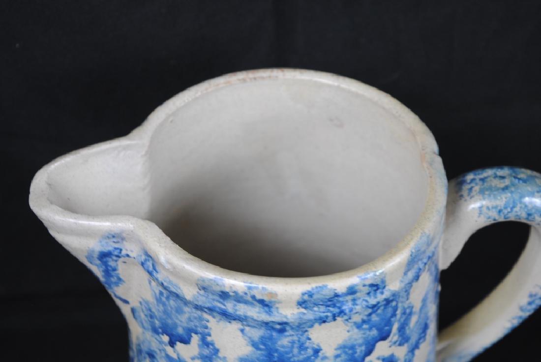 Spongeware Salt Glazed Pitcher - 2