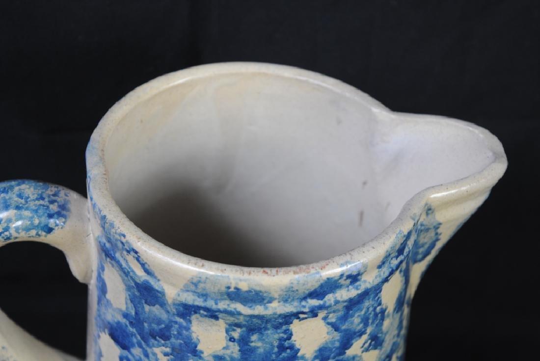 Spongeware Salt Glazed Pitcher - 4
