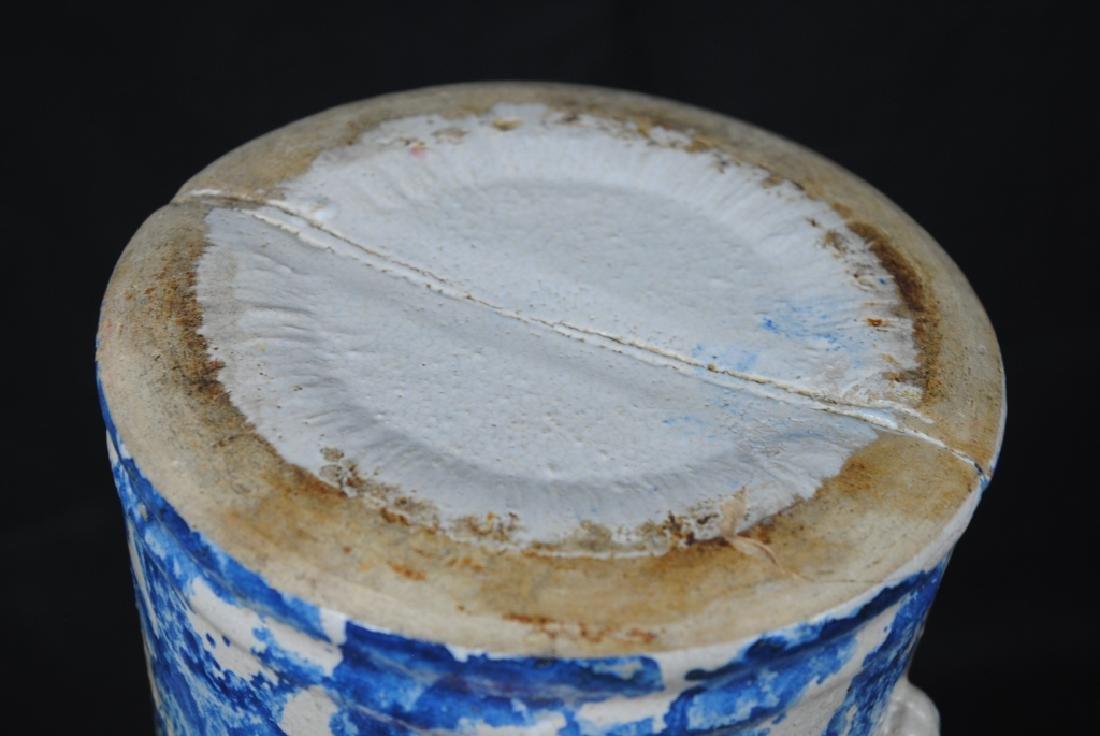 Spongeware Salt Glazed Pitcher - 5
