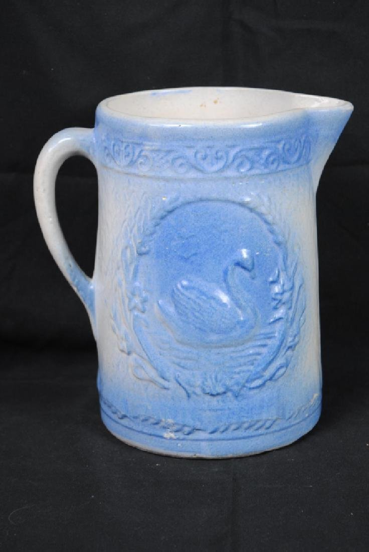 Salt Glazed Pitcher w/ Swan Decoration