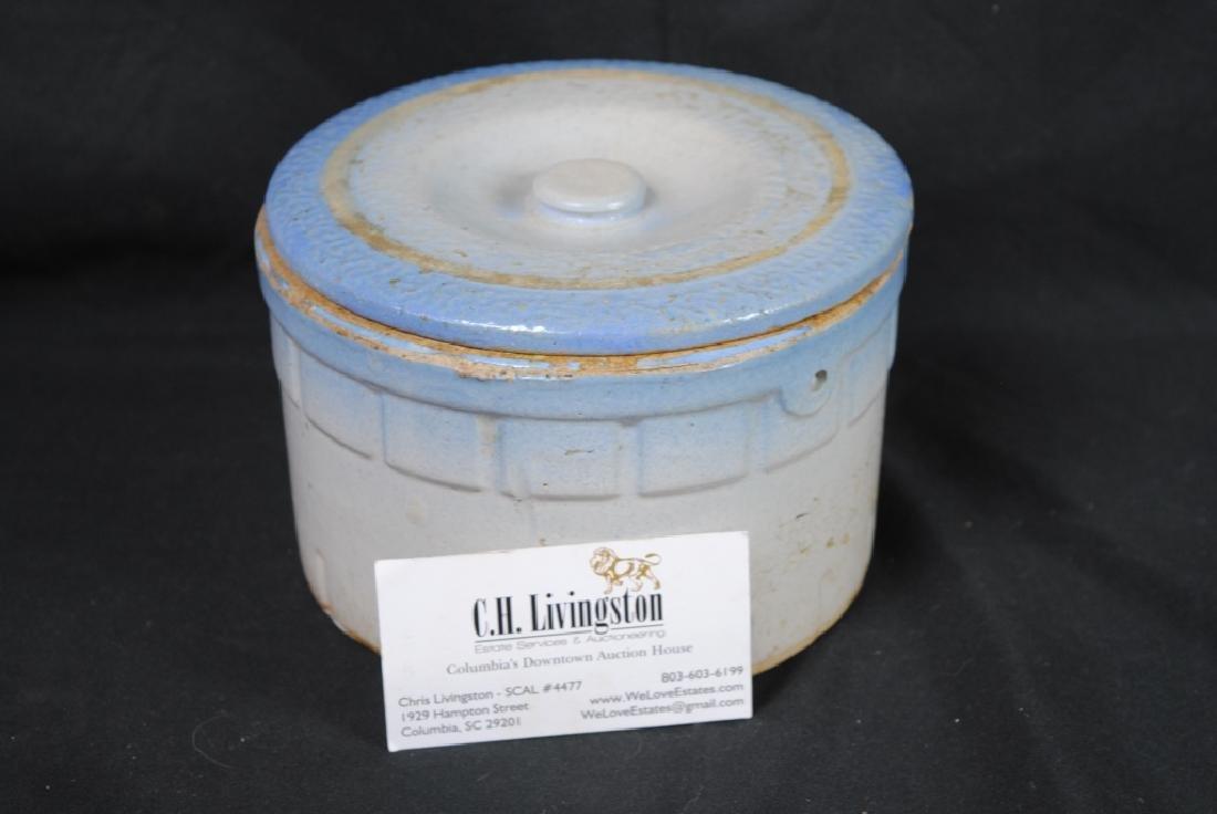 Salt Glazed Butter Crock - 7