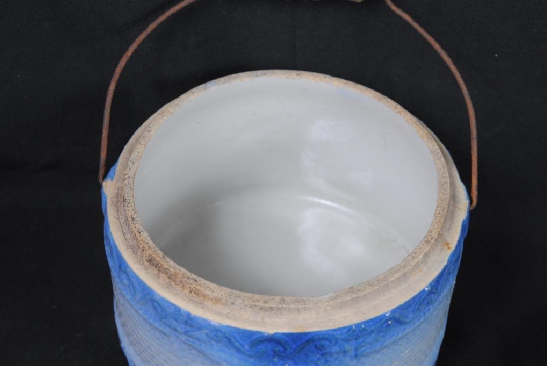 American Eagle Salt Glazed Butter Crock - 4