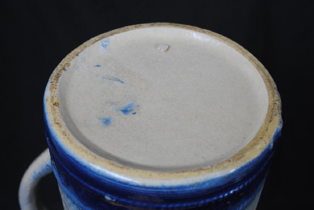 Blue & White Stoneware Pitcher - 7
