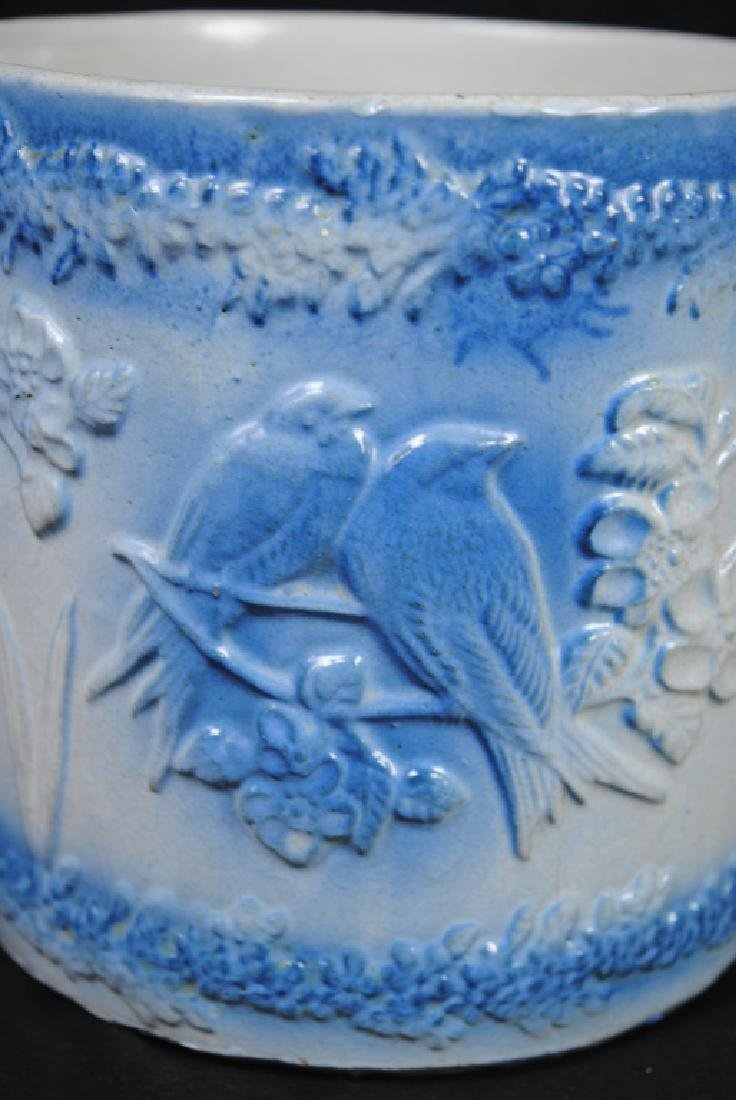 Hull Stoneware Container w/ Flying Bird Decoration - 5