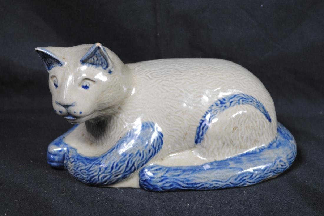 Beaumont Pottery Stoneware Cat Marked JH