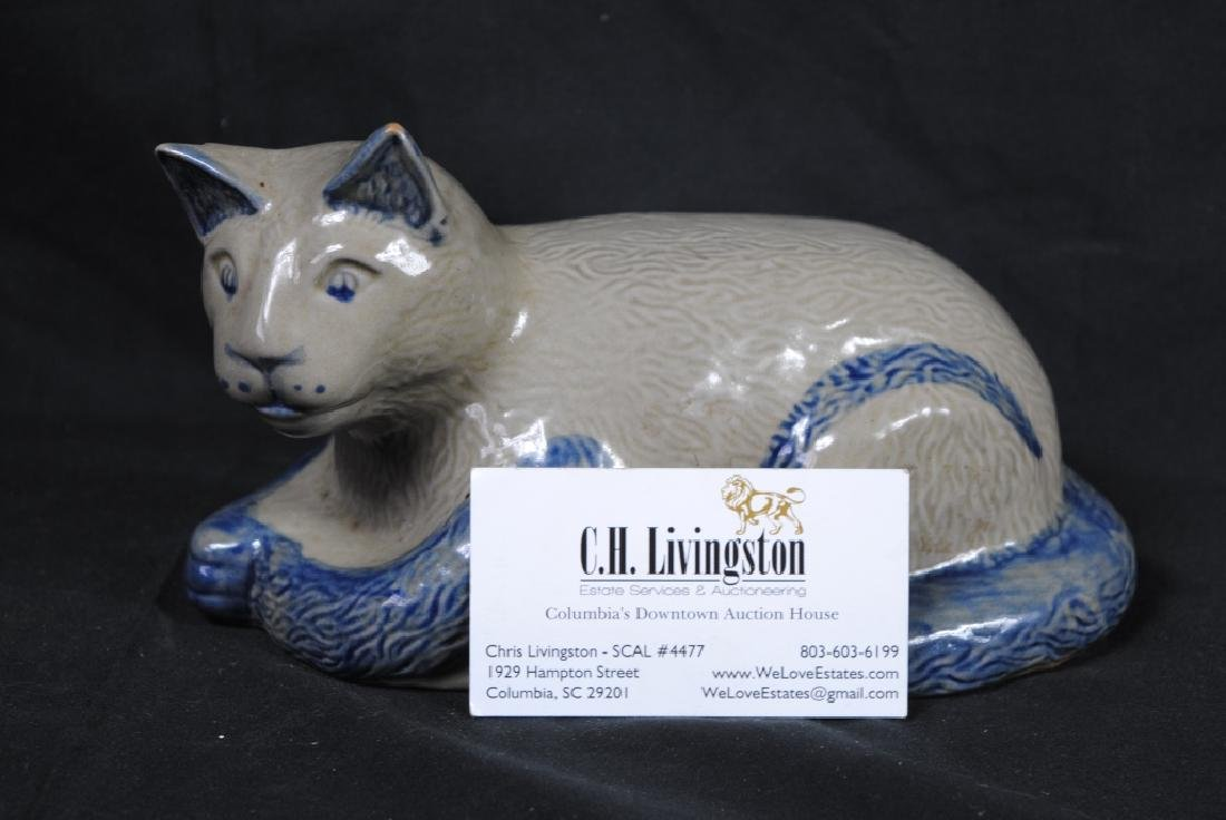 Beaumont Pottery Stoneware Cat Marked JH - 5
