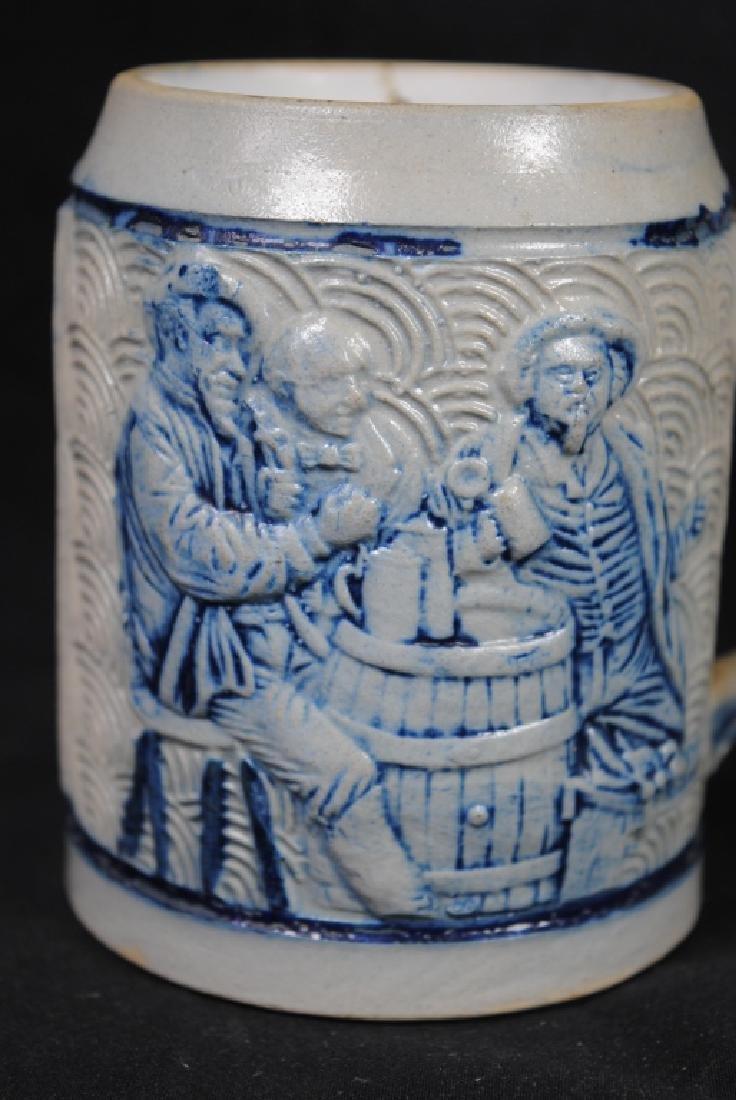 Stoneware Mug W/ Tavern Scene & Buffalo Decoration - 2