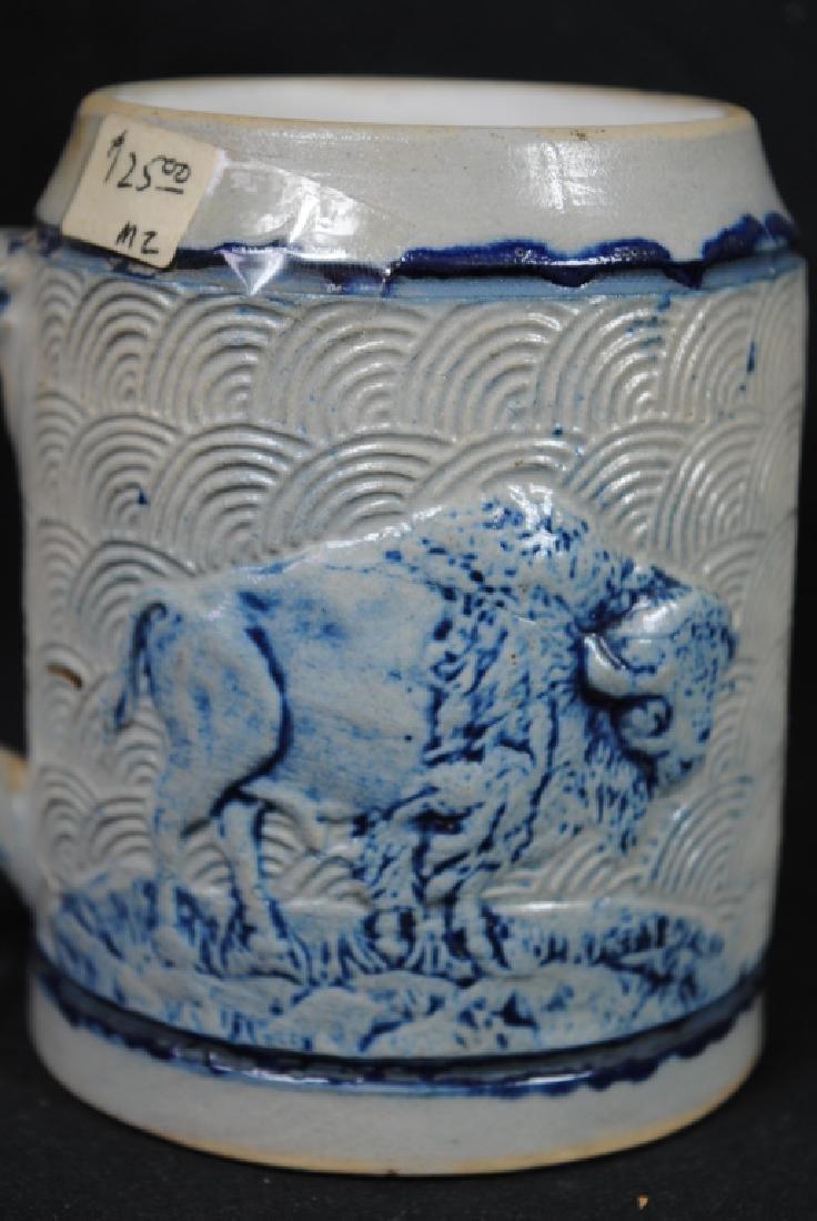 Stoneware Mug W/ Tavern Scene & Buffalo Decoration - 4