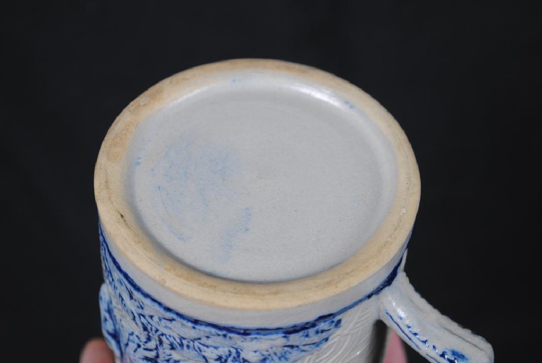 Stoneware Mug W/ Tavern Scene & Buffalo Decoration - 5