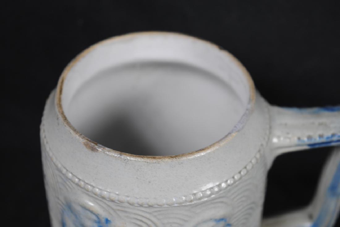 Stoneware Mug w/ A Tavern Scene & Buffalo Decoration - 2