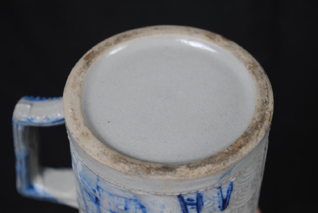 Stoneware Mug w/ A Tavern Scene & Buffalo Decoration - 3