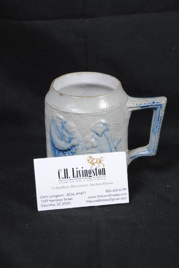 Stoneware Mug w/ A Tavern Scene & Buffalo Decoration - 4