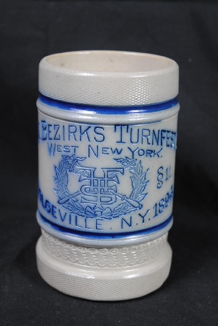 Turnfest CNY Pottery Utica N.Y. Stoneware Mug