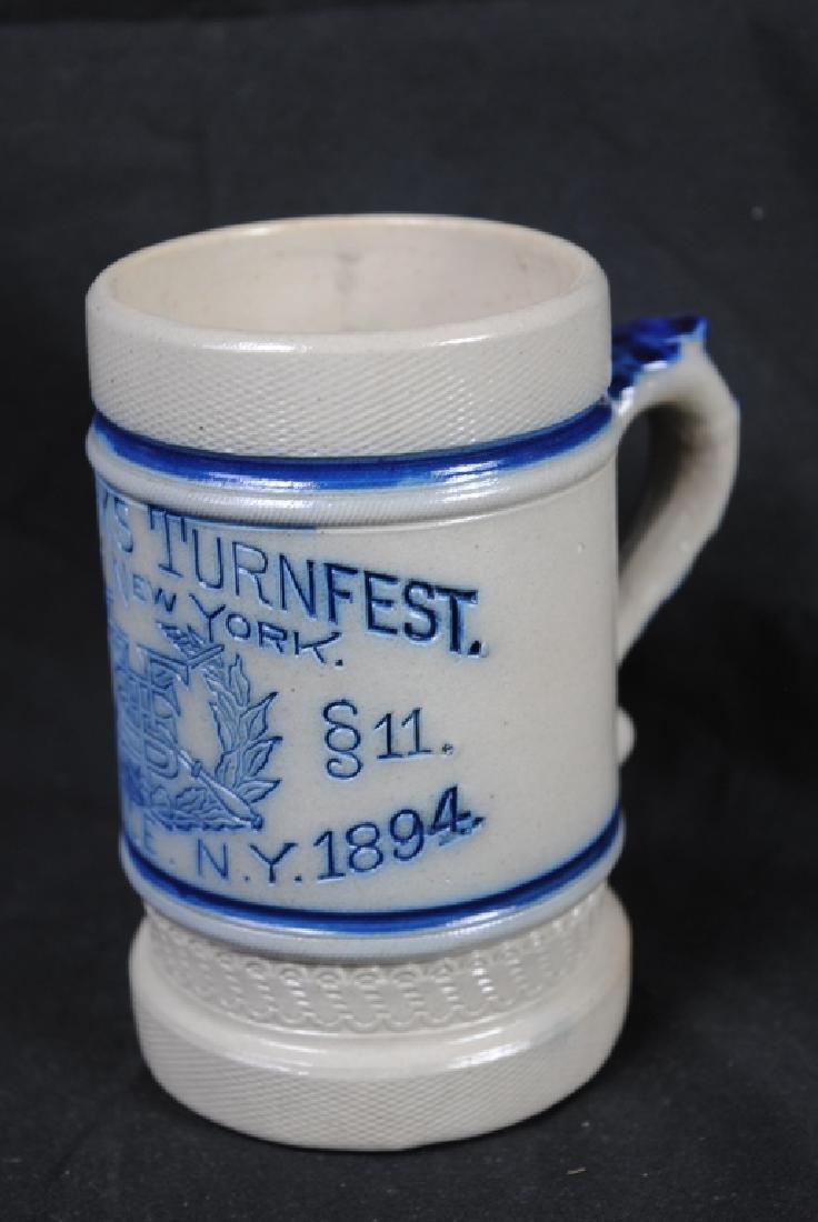 Turnfest CNY Pottery Utica N.Y. Stoneware Mug - 2