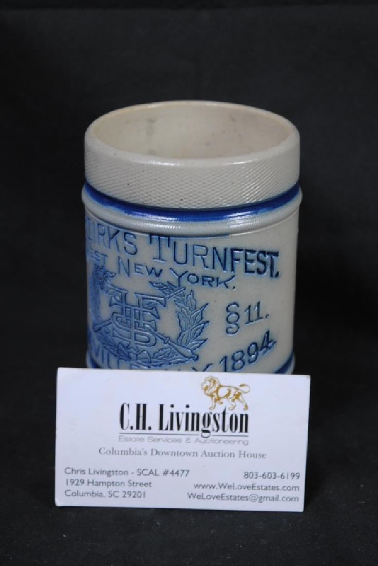 Turnfest CNY Pottery Utica N.Y. Stoneware Mug - 6