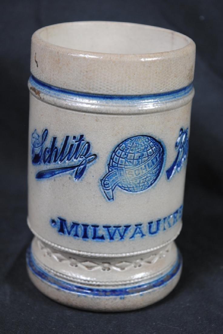 Schlitz Salt Glazed Advertising Mug - 2