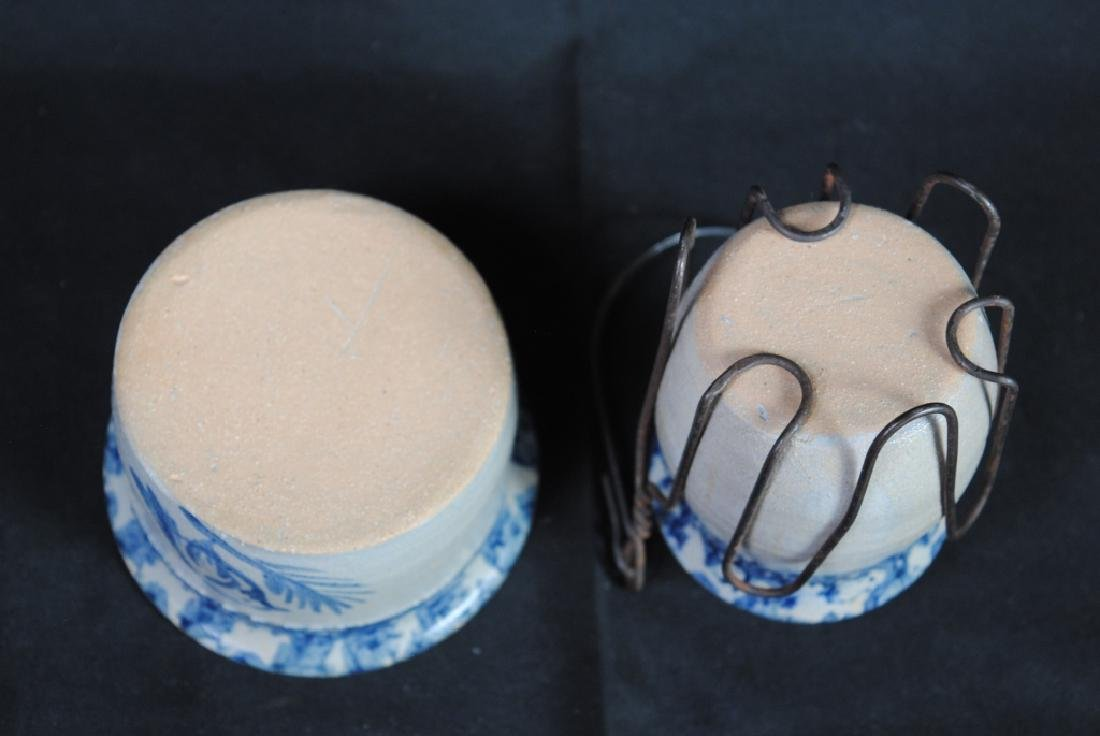 Two Pieces of Cobalt Decorated Pottery - 5