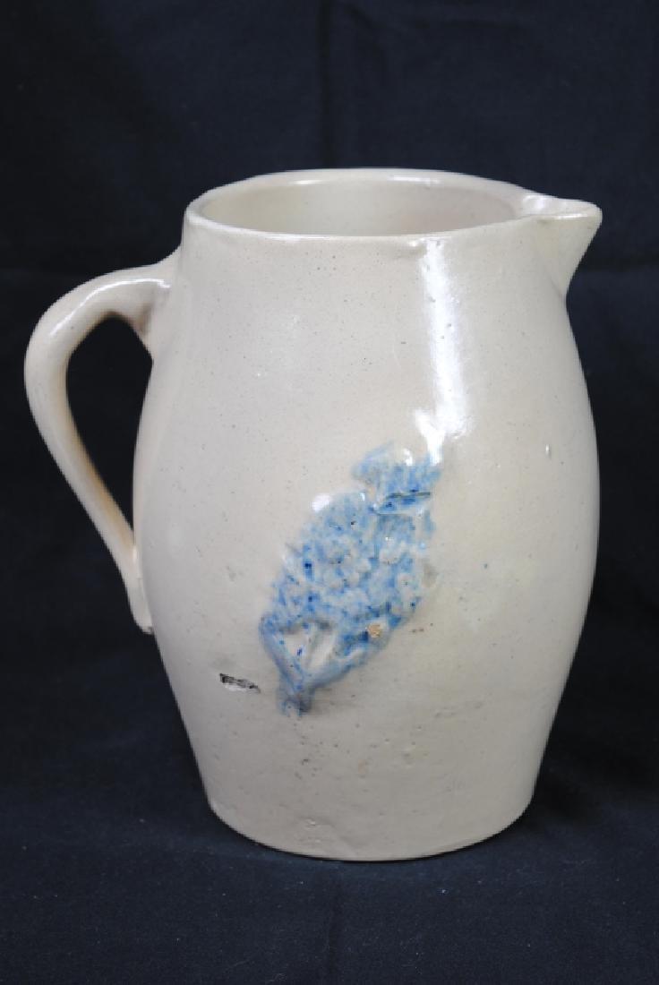 Salt Glazed Pitcher w/ Floral Decoration
