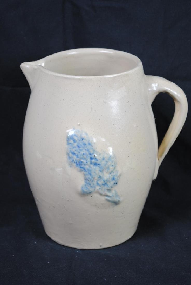 Salt Glazed Pitcher w/ Floral Decoration - 2