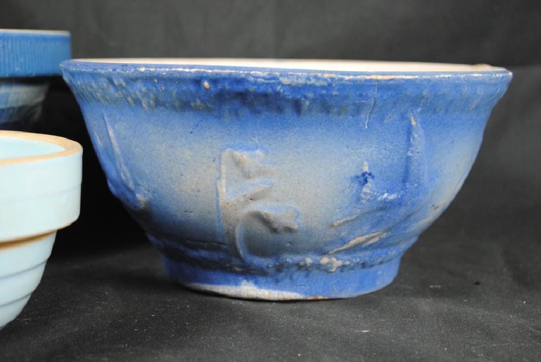 3 Salt Glazed Stoneware Mixing Bowls - 2