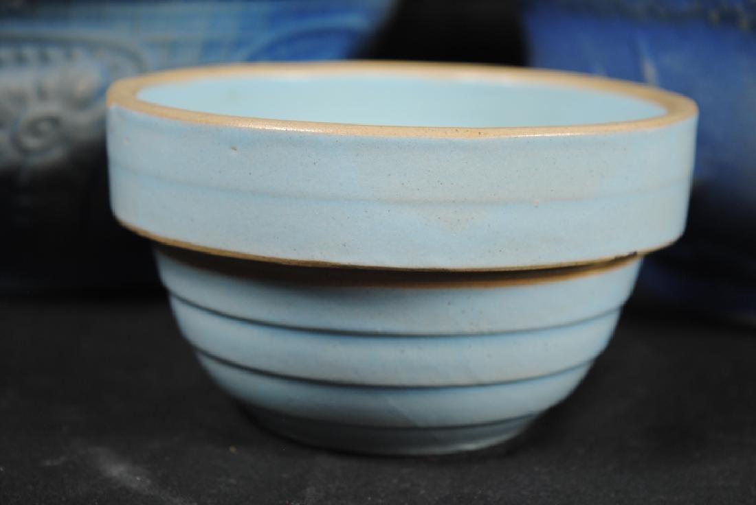 3 Salt Glazed Stoneware Mixing Bowls - 3