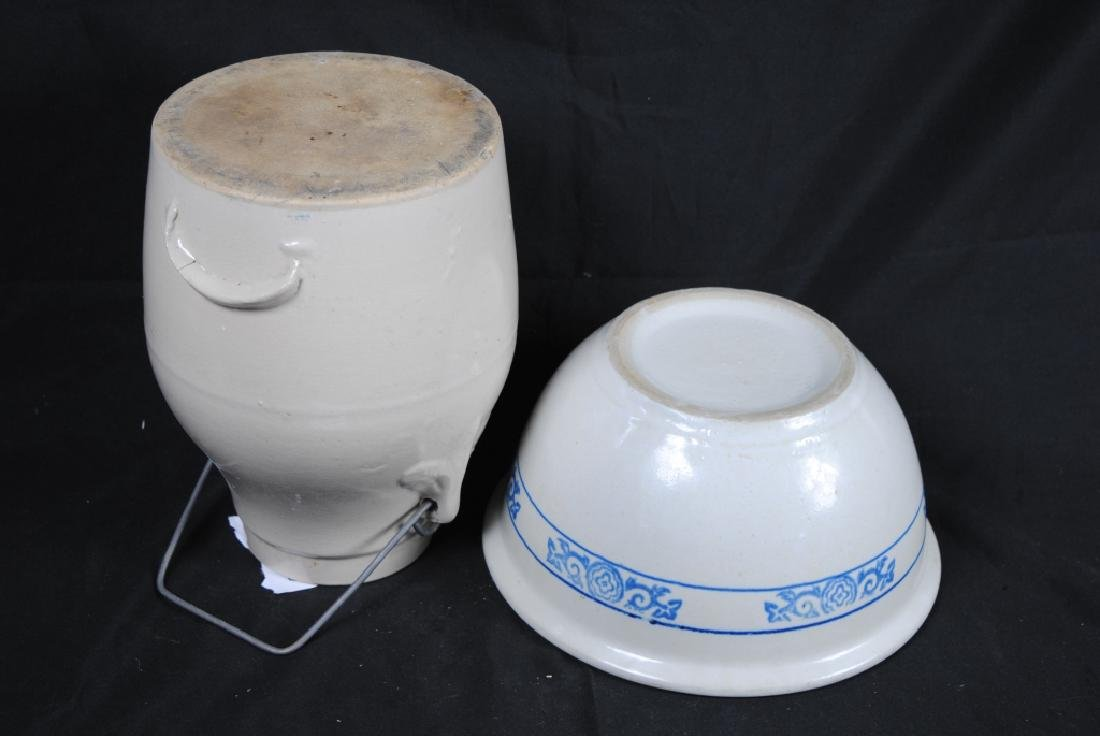 Stoneware Mixing Bowl and Batter Pitcher - 3