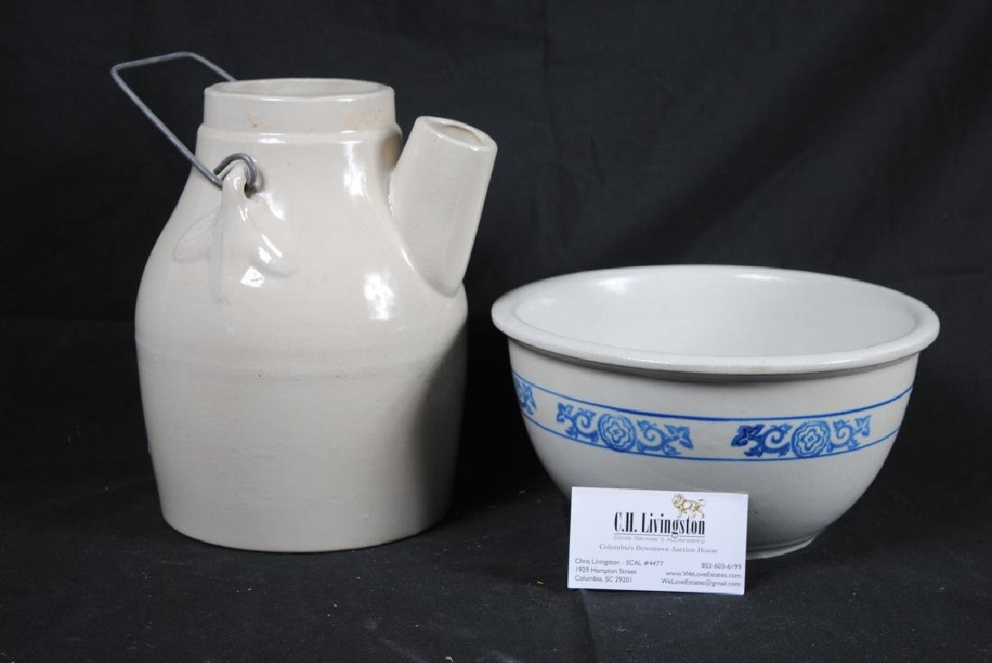 Stoneware Mixing Bowl and Batter Pitcher - 6