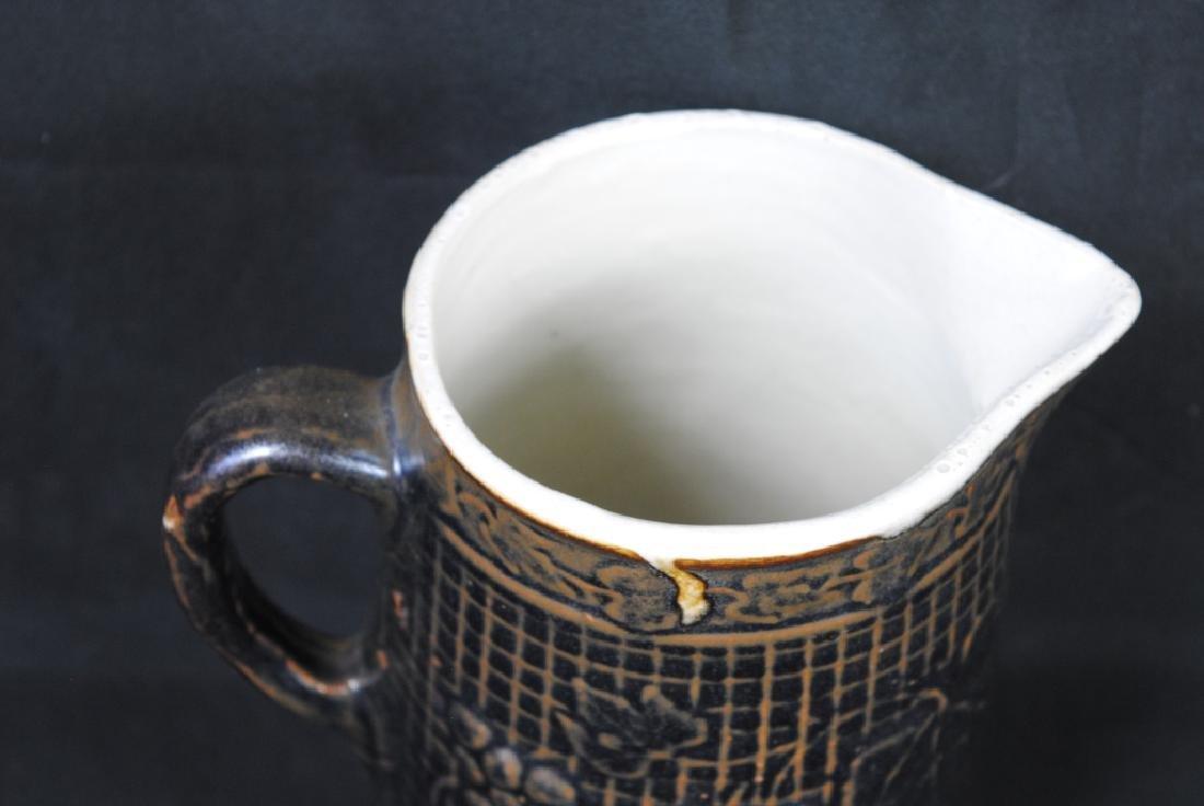 Stoneware Pitcher w/ Grape Motif - 2