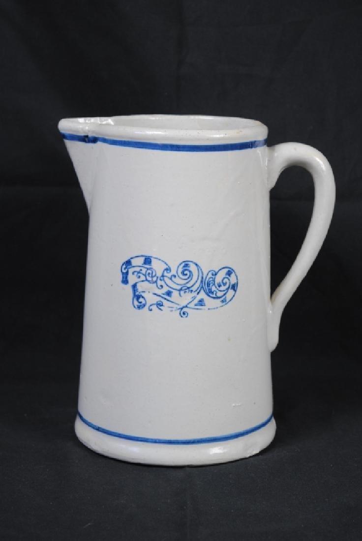 """""""Nautilus"""" Cobalt Decorated Stoneware Pitcher"""