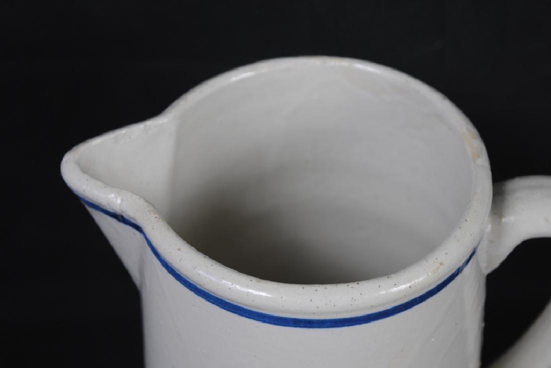 """""""Nautilus"""" Cobalt Decorated Stoneware Pitcher - 2"""