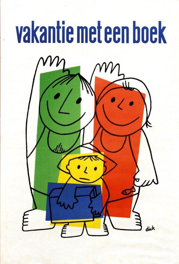 2: Poster by Dick Bruna - vakantie met een boek