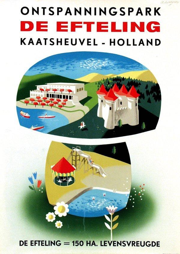 4: Poster by Ad Werner - De Efteling