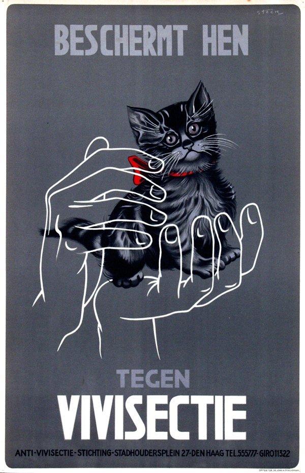 5: Poster by  Steen - Beschermt hen tegen Vivisectie