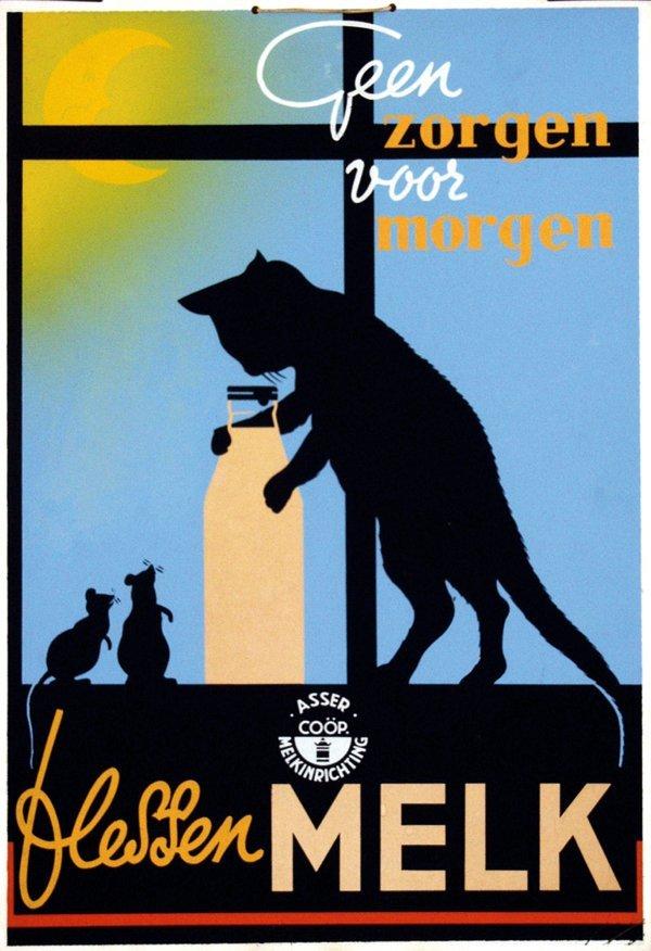 6: Poster by  Anonymous - Geen zorgen voor morgen fless